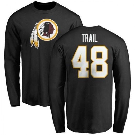 Lynden Trail Washington Redskins Men's Black Pro Line Name & Number Logo Long Sleeve T-Shirt -
